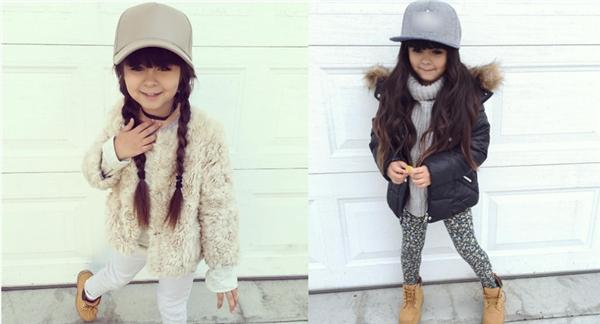 Cô nhóc thể hiện phong cách ăn mặc sành điệucủa mình qua nhiều shoot ảnh thời trang ấn tượng.