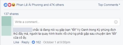 Ý kiến cho rằng Trấn Thành ám chỉ về mối quan hệ với Vy Oanh hậu scandal nhận được đông đảo sự đồng tìnhtừ cộng đồng mạng.