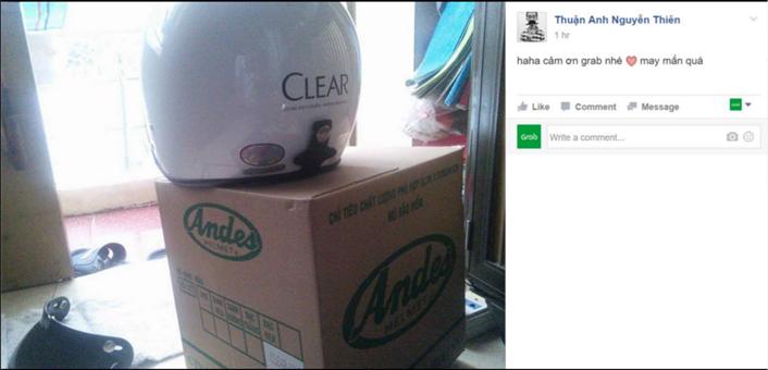 Mũ bảo hiểm Clear xuất hiện khắp mọi nơi.