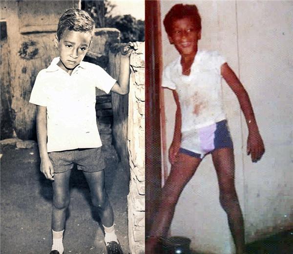 Hình ảnh gầy còm nhom của Segato khi còn là một thiếu niên.