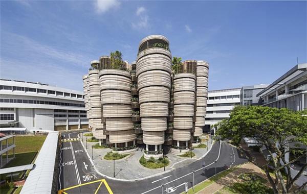 Thiết kế bên ngoàicực kỳ ấn tượng của trườngĐại học Công nghệ Nanyang