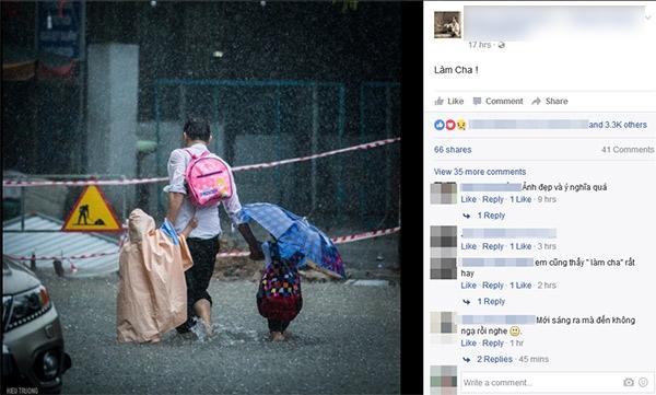 Nhiều bình luận thể hiện sự đồng cảm với chủ nhân bức ảnh về tình cha.