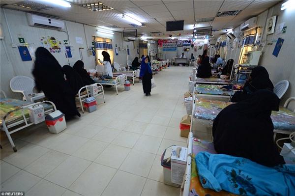 Quang cảnh buồn bã tại một bệnh viện nhi ở thành phố cảngHodaida.