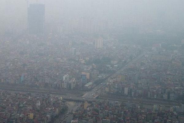 Theo số liệu đo được, sáng nay không khí Hà Nội ô nhiễm đứngthứ nhìthế giới, sau Ấn Độ.