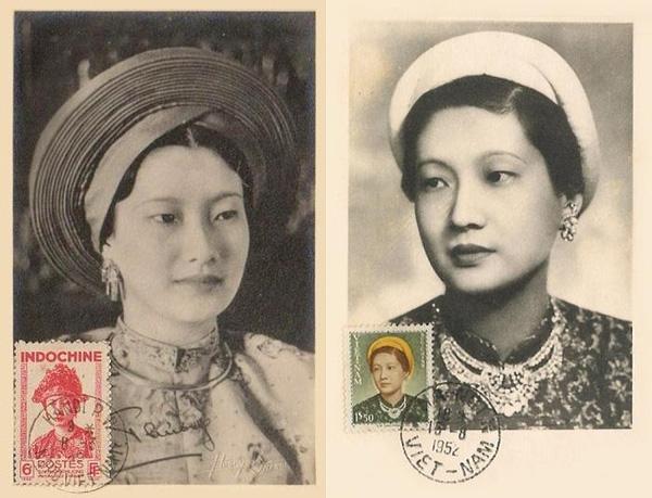 Nhan sắc của hoàng hậu trên những mẫu tem được sản xuất vào thời của bà