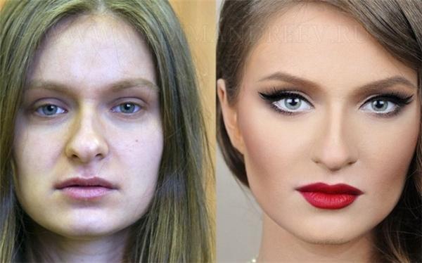 Những người phụ nữ giống như biến thành 1 người khác sau khi được trang điểm kỹ càng.