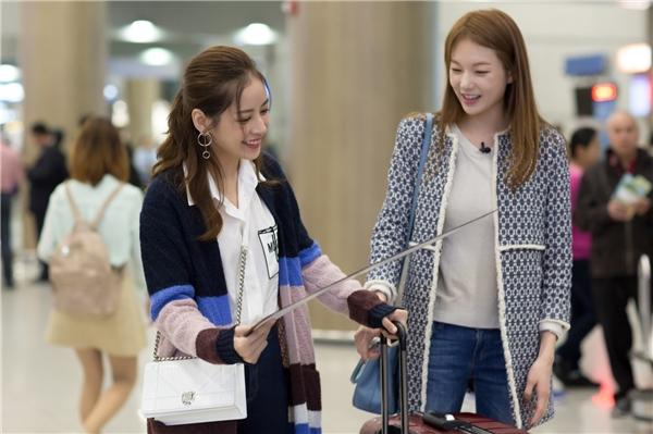 Chi Pu được Á hậu Hàn Quốc ra sân bay chào đón nồng nhiệt - Tin sao Viet - Tin tuc sao Viet - Scandal sao Viet - Tin tuc cua Sao - Tin cua Sao