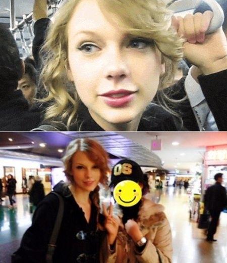 Trong một lần đến thăm đất nước Hàn Quốc xinh đẹp, Taylor Swift cũng không quên trải nghiệm đi tàu điện ngầm tại đây.