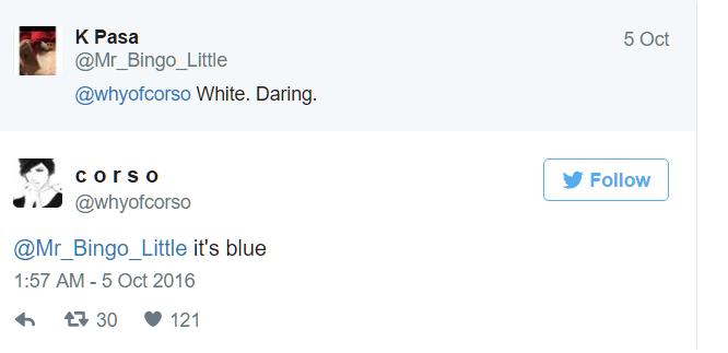 Người khác nói màu trắng nhưng chínhCorsolại khẳng định nó có màu xanh. (Ảnh: Twitter)