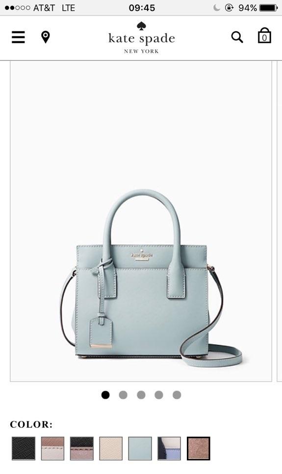 Màu sắc thực tế của chiếc túi trên website chính thứcKate Spade. (Ảnh: internet)