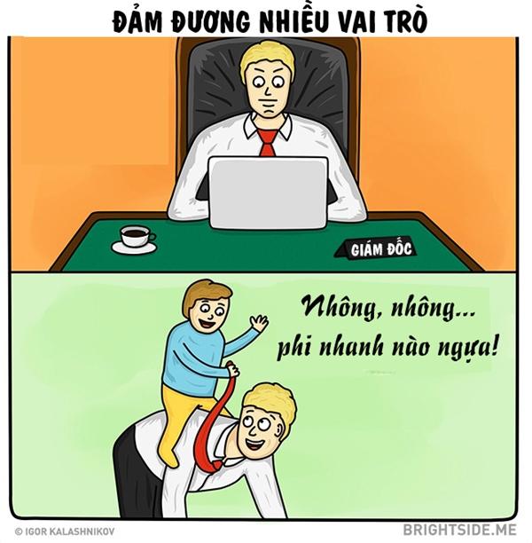 Ở công ty, bố có thể là giám đốc hay trưởng phòngđược mọi người kính nểhoặc e sợnhưng khi về nhà bố không chút ngần ngại làm ngựacho con cưỡi.