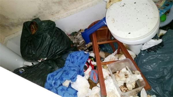 Mọi nơi đều ngập ngụa trong rác thải.