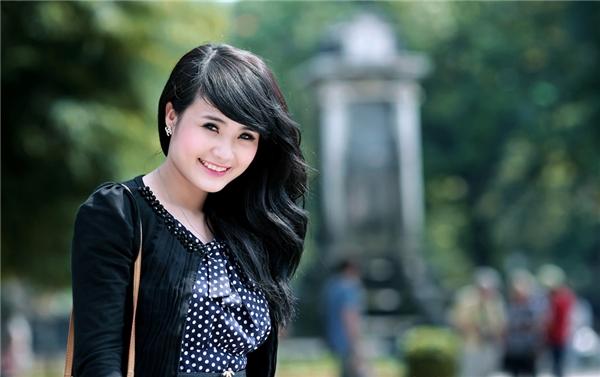 Khánh Chi thuở còn là sinh viên.