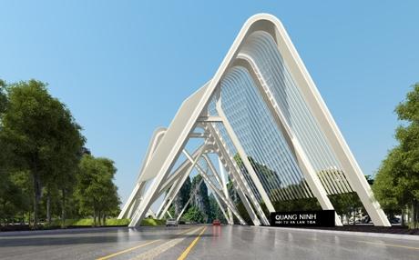 Phối cảnh công trình cổng chào Quảng Ninhkhi hoàn thành.