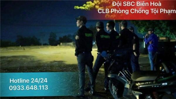 Đội SBC Biên Hòa - CLB Phòng Chống Tội Phạm Biên Hoà sẵn sàng giúp đỡ, ứng cứu 24/24 theo số hotline
