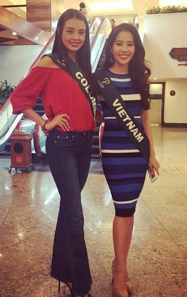 Trong khi đó, hôm qua, Nam Em cùng với 9 thí sinh khác tham gia vào hoạt động đầu tiên của cuộc thi Hoa hậu Trái đất (Miss Earth 2016). Đây là 10 thí sinh được ban tổ chức gửi thư mời đến sớm 2 ngày để tham gia một sự kiện nằm trong khuôn khổ của cuộc thi.