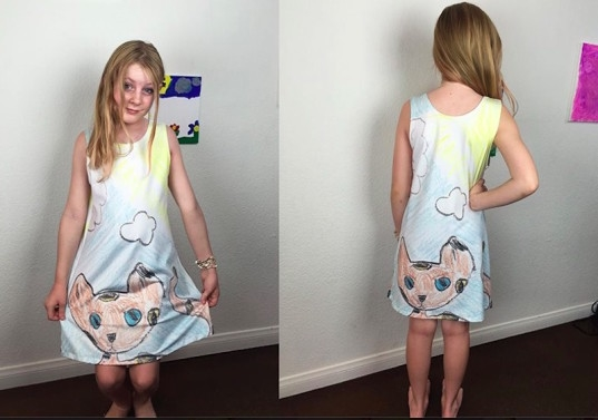 Thế nên những chiếc váy trông rất lạ và bắt mắt.(Ảnh: Internet)