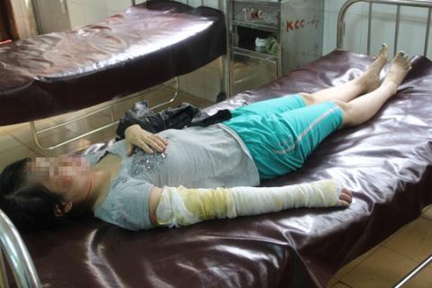 Chị Huyền đang được điều trị tại Bệnh viện Đa khoa tỉnh Đắk Lắk