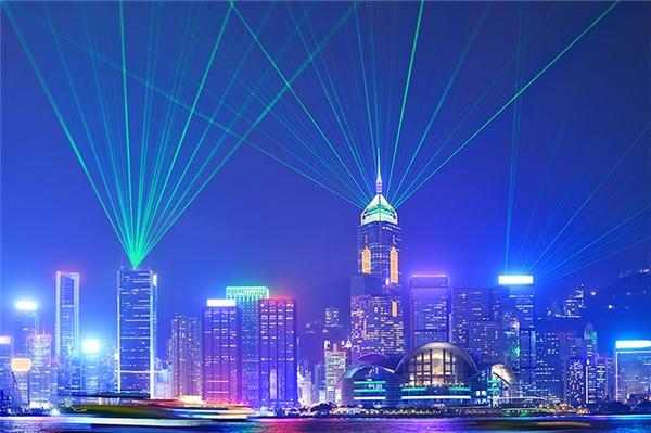 Màn trình diễn nhạc nước hoành tráng mỗi đêm ở Hong Kong.(Ảnh: Internet)