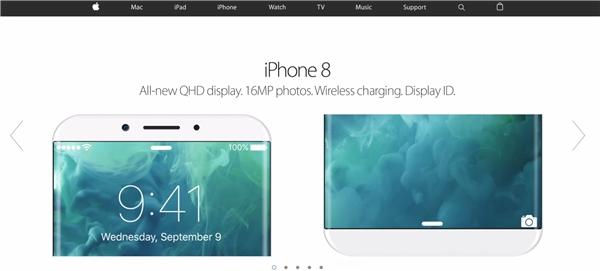 iPhone 8 với màn hình QHD độ phân giải960x540 pixel. (Ảnh: internet)