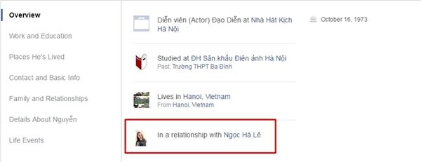 """Danh hàithay đổi trạng thái trên trang cá nhân từ """"độc thân"""" sang """"đang hẹn hò"""". - Tin sao Viet - Tin tuc sao Viet - Scandal sao Viet - Tin tuc cua Sao - Tin cua Sao"""