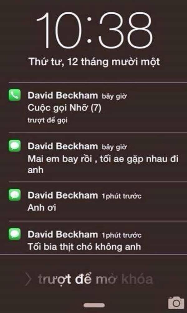 Từ bao giờ màDavid Beckhamnói được tiếng Việt thế các chị?(Ảnh: Internet)
