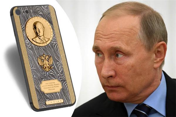iPhone 7 đặc biệt của Tổng thống Nga. (Ảnh: internet)