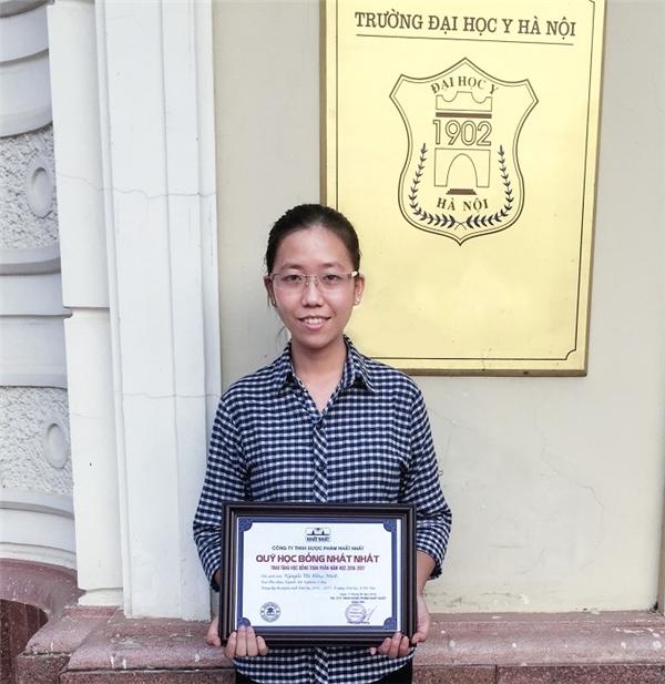 Nguyễn Thị Hồng Minh – Thủ khoa ngành Xét nghiệm Y học trường Đại Học Y Hà Nội năm 2016.