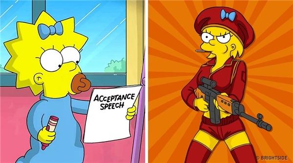 """Cô nhócMargaret """"Maggie"""" Simpson đã """"bá đạo"""" vậy rồi sao?(Ảnh: Bright Side)"""