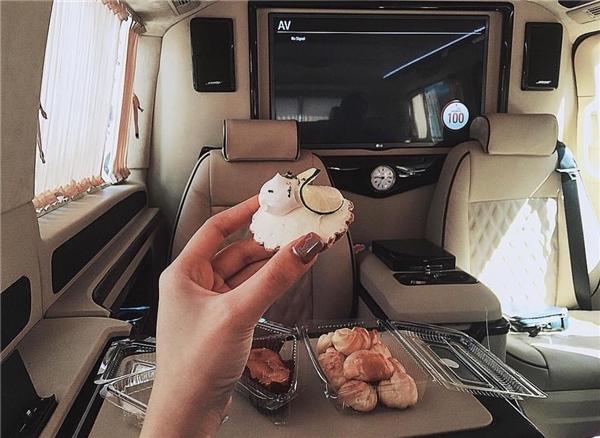 Dàn nội thất đẳng cấp của chiếc Mercedes V220 trị giá hơn 2 tỉ đồng.(Ảnh: Instagram @richkidsofvietnam_)