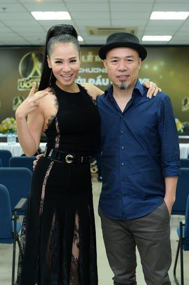 Ca sĩ Thu Minh và nhạc sĩ Huy Tuấn.