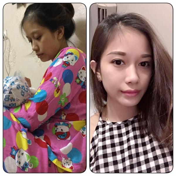 """Hình ảnh xinh đẹp, trắng trẻo của bà mẹ trẻ tên Linh sau sinh khiến cư dân mạng """"phát sốt""""."""