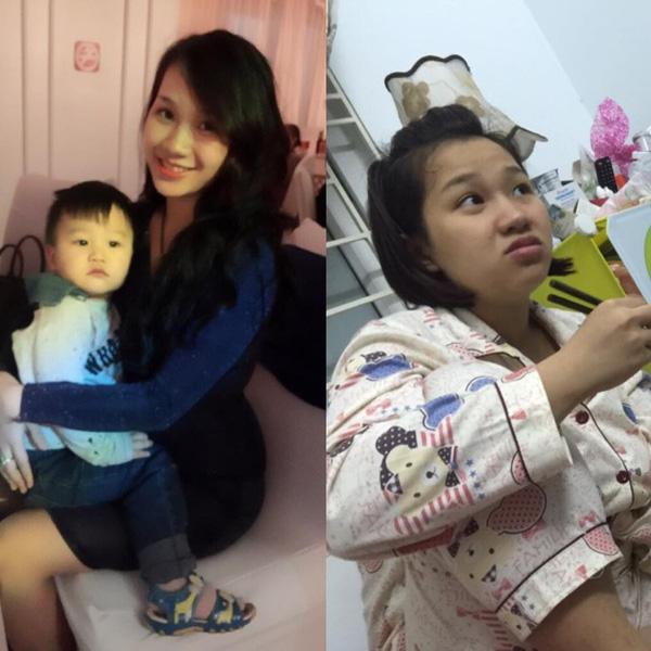 """Ảnh """"lột xác"""" ngoạn mục củabà mẹ trẻ Hoa Nguyễn khiến nhiều chị em cũng không khỏi ngỡ ngàng."""