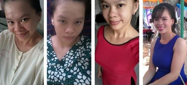 Bà mẹ trẻĐinh Trần Minh Thư trong hành trình giảm cân từ70kg-61kg-52kg-47kg.