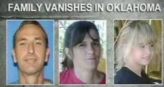 Bản tin thông báogia đình Jamison mất tích tại Oklahoma.(Ảnh: Internet)