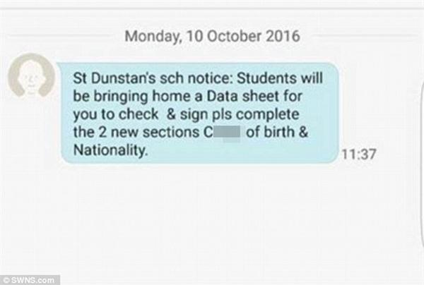 Nhà trường gửi tin nhắn có nội dung tục tĩu đến hàng trăm phụ huynh