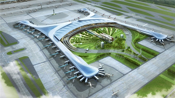 Sân bay quốc tế Incheon, Hàn Quốc đượcthiết kế theo hình dạng của một con phượng hoàng huyền thoại, linh thú trong thần thoại Hàn Quốc hiện thân quyền lực,trường thọ, sức mạnh và cân bằng.