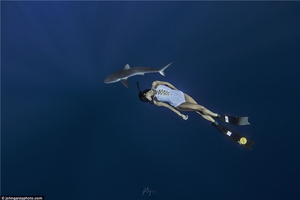 Bộ ảnh đẹp bàng hoàng của người đẹp và sát thủ giữa lòng đại dương