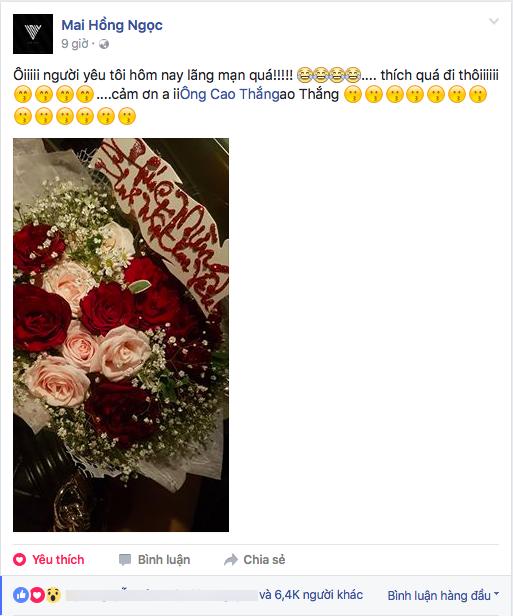 """Được Ông Cao Thắng gọi """"em yêu"""" và tặng hoa, Đông Nhi vui đến mất ngủ - Tin sao Viet - Tin tuc sao Viet - Scandal sao Viet - Tin tuc cua Sao - Tin cua Sao"""