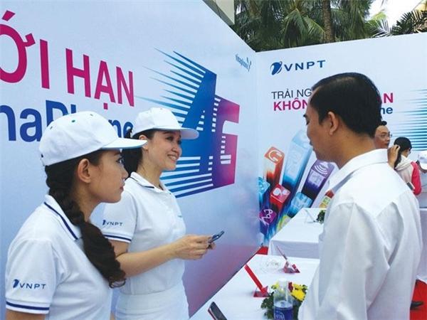 VNPT-Vinaphone giới thiệu dịch vụ 4G cho người dùng. (Ảnh: internet)