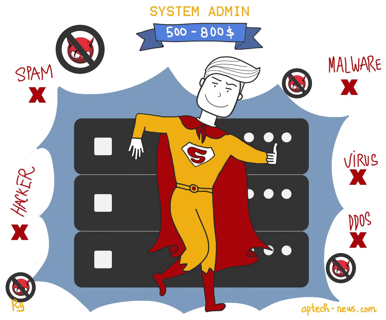 """Chỉ cần đảm bảo nguồn mạng của hệ thống máy tính được trơn tru là các bạn System Admin đã có thể """"rủng rỉnh"""" túi mỗi tháng rồi."""