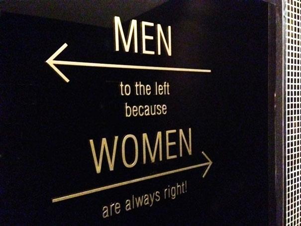 """""""Đàn ôngsang bên trái vì phụ nữ luôn luôn phải!"""""""