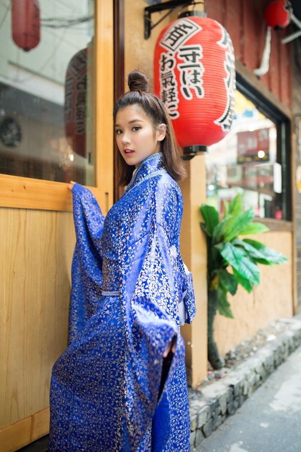 Hoàng Yến Chibi xinh như thiên thần trong trang phục kimono