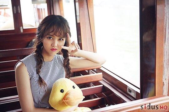 Thế nhưng chú vịt vàng đáng yêu vẫn mà thú bông yêu thích của Kim So Hyun