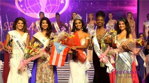 Kết quả chung cuộc của Miss Intercontinental 2016.