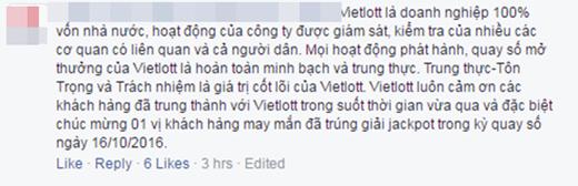 Vietlott trả lời thắc mắc.