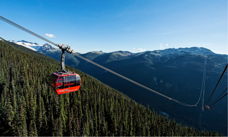 Cáp treo dài không trụ đỡ cho du khách được trải nghiệm cảm giác gần gũi với tự nhiên.