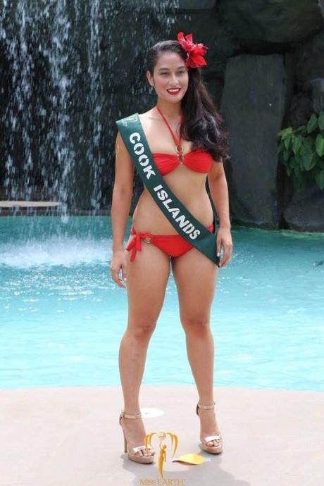 Hoa hậu đảo Cook có chỉ số hình thể vượt ngưỡng: 96-76-106.