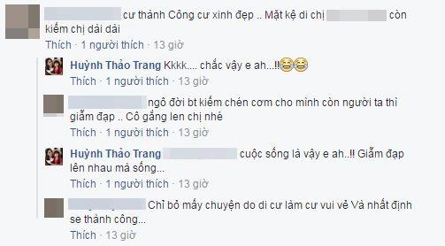 Ngay lập tức, nhiều người hâm mộ cũng lên tiếng ủng hộ và động viên Thảo Trang. - Tin sao Viet - Tin tuc sao Viet - Scandal sao Viet - Tin tuc cua Sao - Tin cua Sao