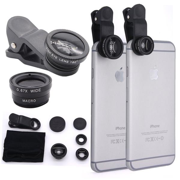 Bộ 3 ống kính cho smartphone. (Ảnh: internet)